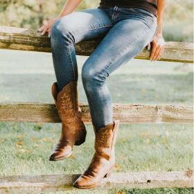 Cowboy & Bikerstøvler til Kvinder