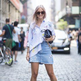 3 måder at style denimnederdelen