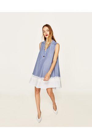Zara Kombineret kjole med blonde