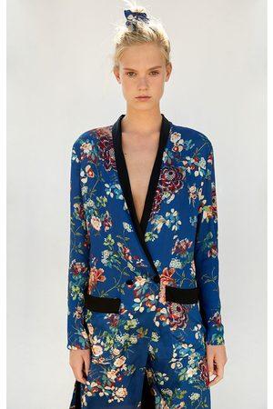 Kvinder Kimonos - Zara LANG KIMONO MED BLOMSTRET MØNSTER