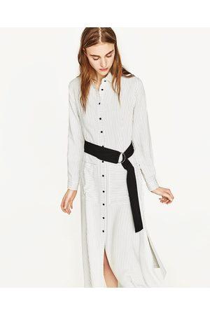 Kvinder Tunika kjoler - Zara STRIBET TUNIKA MED BÆLTE