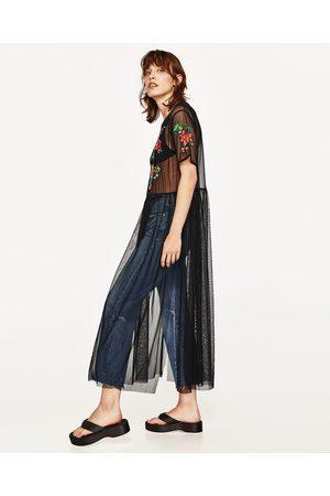 Kvinder Tunika kjoler - Zara TUNIKA I TYL MED BRODERI