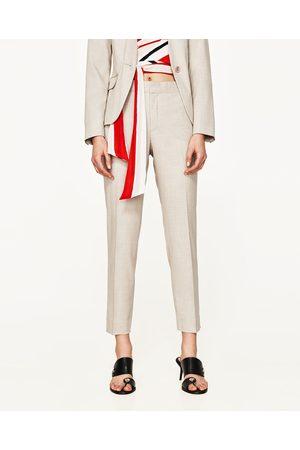 Kvinder Slim & Skinny bukser - Zara HERRINGBONE BUKSER SKINNY FIT