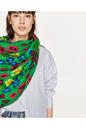 Kvinder Tørklæder - Zara TØRKLÆDE MED ANIMAL PRINT - Fås i flere farver