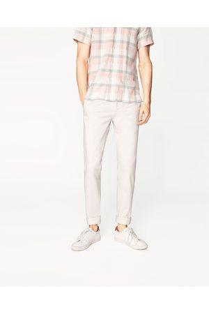 Mænd Slim & Skinny bukser - Zara CHINOBUKSER SLIM FIT - Fås i flere farver