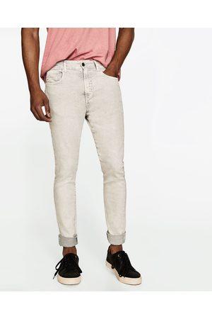 Mænd Jeans - Zara FORVASKEDE, SLIM FIT JEANS - Fås i flere farver