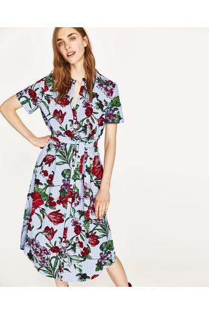 Kvinder Tunika kjoler - Zara BLOMSTRET TUNIKA MED TERN