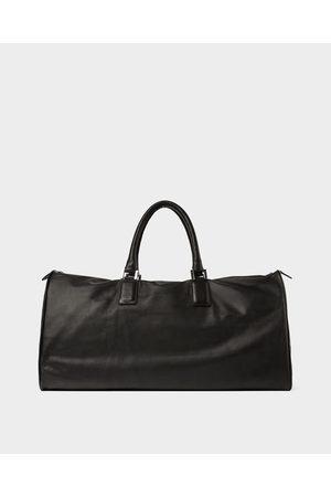 Zara BLACK LEATHER BOWLING BAG