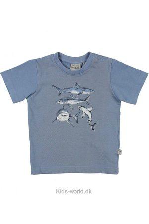 WHEAT T-shirt - Støvet m. Hajer
