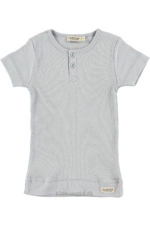 T-shirt - Rib - Lyseblå