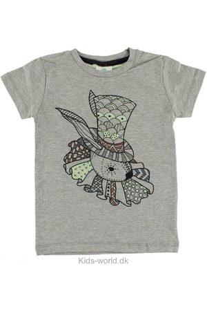 EN FANT T-shirt - Gråmeleret m. Kanin