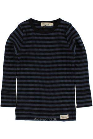 Bluse - Navy/Sortstribet