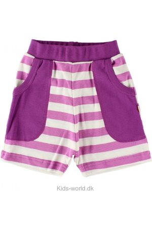 Shorts - Katvig Sweatshorts - Fuchsia/Hvidstribet
