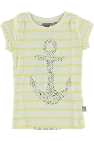 Piger Kortærmede - WHEAT T-shirt - Creme/ m. Anker
