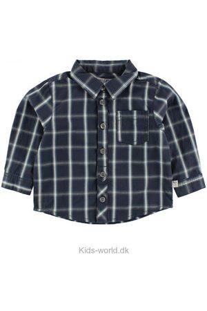 Skjorter - WHEAT Skjorte - Navy/ /Lyseblå