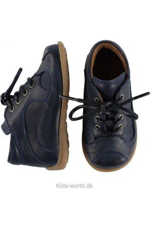 Drenge Pæne sko - Bisgaard Prewalker Sko - Blå m. Snøre
