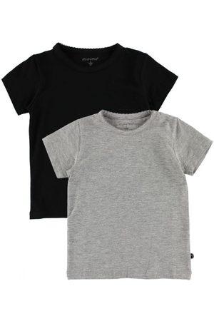Piger Kortærmede - Minymo T-shirt - 2-pak - / meleret m. Blonde