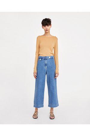 Zara Jeans - JEANS MARINE CULOTTE MALIBU BLUE