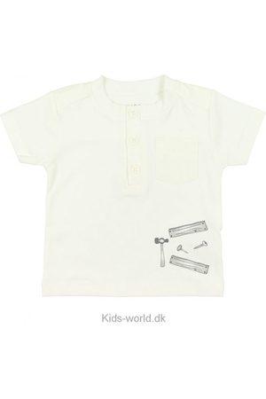 FIXONI Kortærmede - T-shirt - Offwhite m. Print