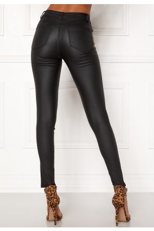 Vila Kvinder Skinny - Commit New Coated Jeans Black M