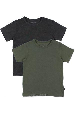 Minymo T-shirt - 2-pak - Koksgrå/Army