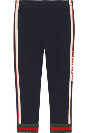 Gucci Children's pant with Gucci jacquard trim