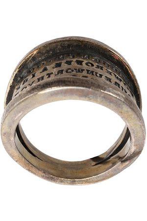 TOBIAS WISTISEN Script Plate' ring
