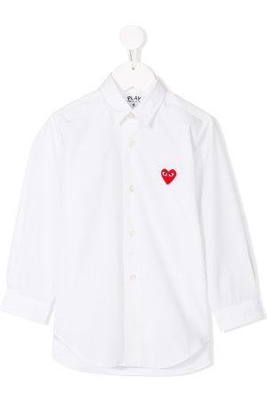 Comme des Garçons Heart embroidered shirt