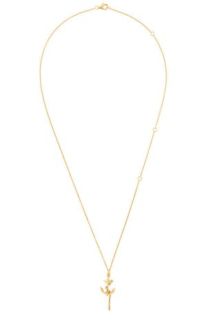 KASUN LONDON Anchor pendant necklace