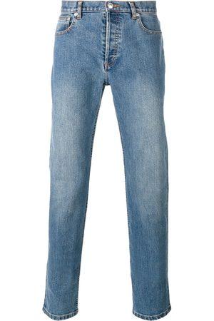 A.P.C. Mænd Straight - Jeans med lige ben og vasket effekt