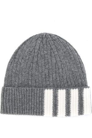 Thom Browne 4-Bar Stripe Cashmere Rib Hat
