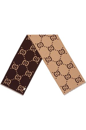 Gucci GG jacquard-tørklæde i uld og silke