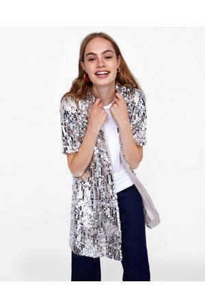 Zara SEQUINNED SHIRT DRESS