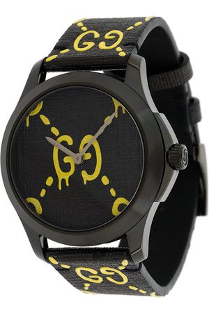 Gucci Black Yellow Ghost G-Timeless watch