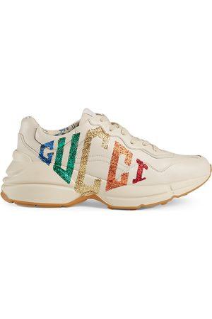 Gucci Rhyton -sneakers i læder med glimmer