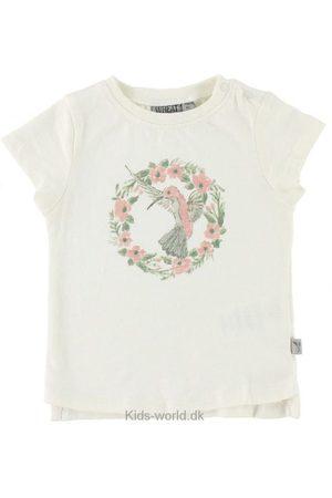 WHEAT T-shirt - Flower Bird - Creme m. Print