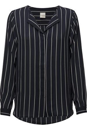 Selected Kvinder Bluser - Slfdynella Stripe Ls Shirt Noos Bluse Langærmet
