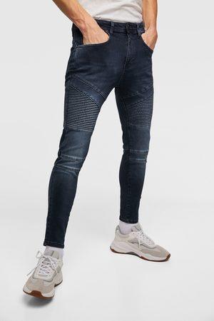 Zara Slim & Skinny bukser - DENIM BIKERBUKSER SKINNY FIT