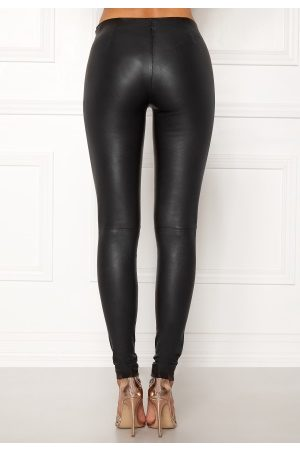 Selected Sylvia Leather Legging Black 40