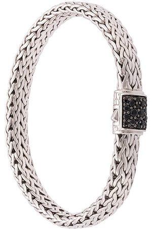 John Hardy Classic Chain-armbånd med flad sølvkæde og hægte i safir