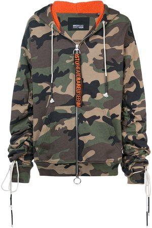 MOSTLY HEARD RARELY SEEN Hættetrøje med camouflage-mønster og lynlås