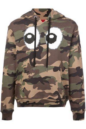 MOSTLY HEARD RARELY SEEN Camouflage-mønstret hættetrøje med øje-tryk
