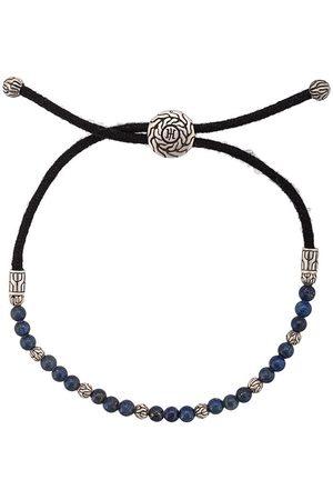 John Hardy Classic Chain-armbånd i sølv med lapis lazuli-perler og træk igennem-lukning
