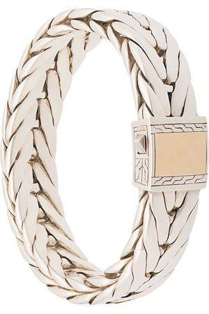 John Hardy Modern Chain-armbånd med lås i 18 karat guld