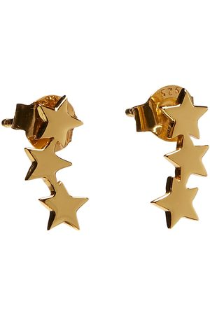 syster P Snap Earrings Triple Star Plain Gold Accessories Jewellery Earrings Studs