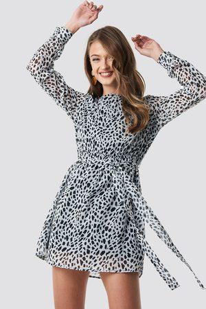 NA-KD Dalmation Spots Print Dress