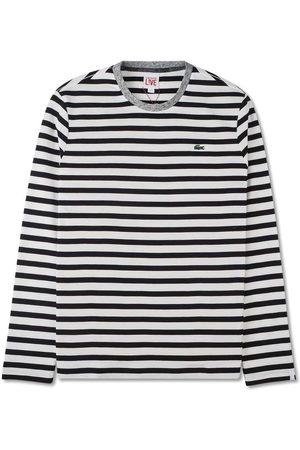 Lacoste Mænd Langærmede - Langærmet t-shirt med striber