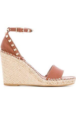 VALENTINO Garavani Rockstud double wedge sandals