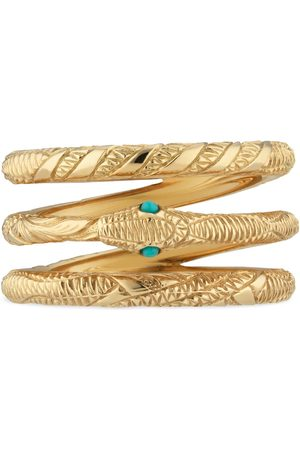 Gucci Three band Ouroboros ring in yellow gold