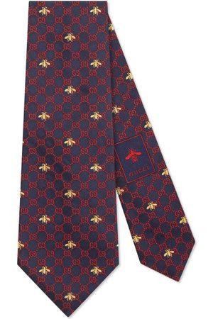 Gucci Slips - GG bees silk tie